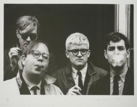 Andy Warhol, David Hockney, Henry Geldzahler and Jeff Goodman from Out of the '60s from the Geldzahler Portfolio
