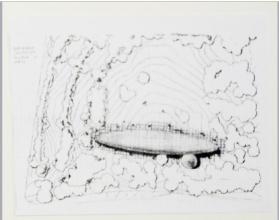 Dirigible, University Museum of Arts, Aerial View