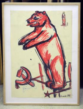 Study for Russian Bear Weather Vane