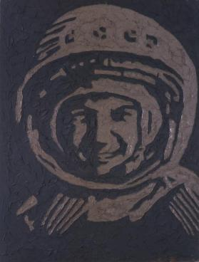 Portrait of Yuri Gagarin, the First Cosmonaut