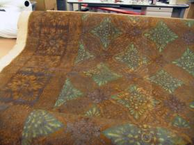 Stenciled Leather Rug or Wall Covering