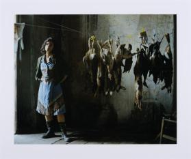 Annette with Rabbits (photographic still from The Rape of the Sabine Women)