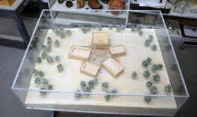 Architectural model for the Nasher Museum of Art at Duke University